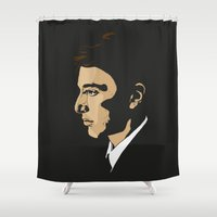 the godfather Shower Curtains featuring Michael Corleone - The Godfather Part I by Tomcert