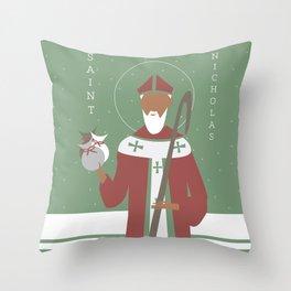 St. Nicholas Icon Throw Pillow