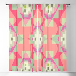 Light shapes in pink Blackout Curtain