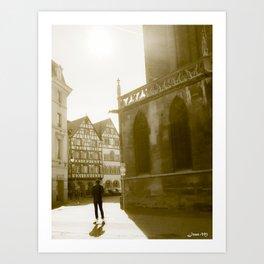 The skater France Art Print