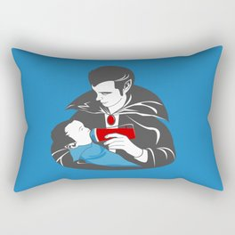 The Curious Case of a Baby Vampire Rectangular Pillow