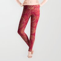 paisley Leggings featuring Crazy Paisley by Tracie Andrews