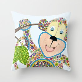 Monkey Business Throw Pillow