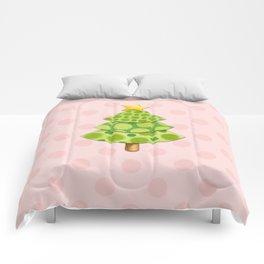 Pink Polka Dots Christmas Comforters