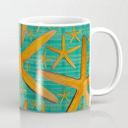 """Starfish in Turquoise and Mustard"" Coffee Mug"