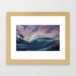 A sunset Framed Art Print