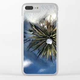 : heart of the colorado yucca : Clear iPhone Case