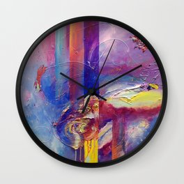 Eye of the Storm by Nadia J Art Wall Clock