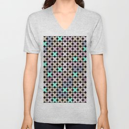 Abstract pattern . To embroider a cross . Unisex V-Neck