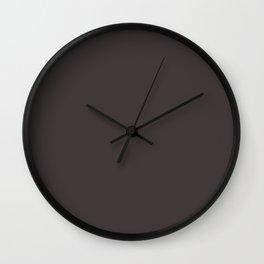 Solid Black Cat Color Code #413839 Wall Clock