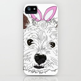 Happy Easter Bunny - Westie dog iPhone Case