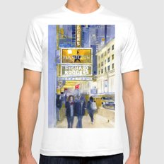 Richard Rodgers - NYC - Broadway - Theater District White MEDIUM Mens Fitted Tee