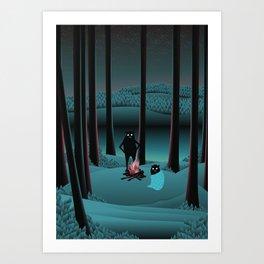 Long Talks Short Nights Art Print