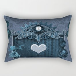 A touch of steampunk with elegant heart Rectangular Pillow