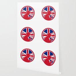 British Private Investigator Union Jack Flag Icon Wallpaper