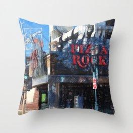 Pizza Rock Las Vegas - Colored Pencil Throw Pillow