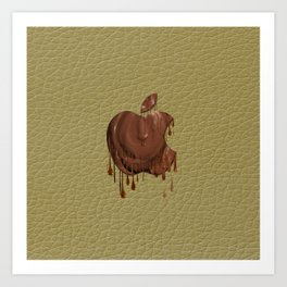 Melted Apple Chocolate Art Print