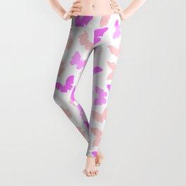 Purple  pink butterflies patterm Leggings