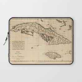 Islands of Cuba and Jamaica Map (1788) Laptop Sleeve