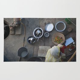 Learning to Cook from Above Rug