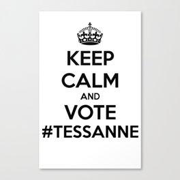 Keep Calm & Vote #Tessanne Canvas Print