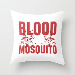 Mosquito Camping Camper Nature Adventure Hiker Throw Pillow