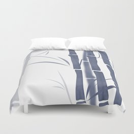 Bamboo . Blue and white . Duvet Cover
