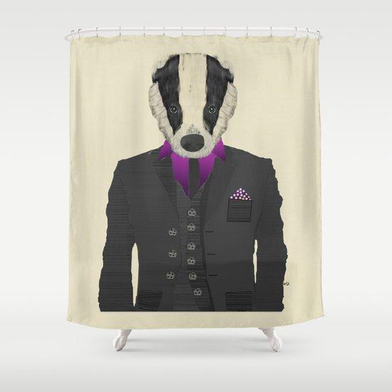 mr badger Shower Curtain