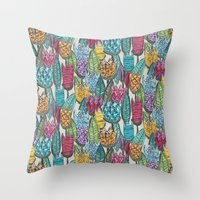 tulips Throw Pillows featuring tulips by Sharon Turner