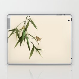 A grasshopper on bamboo leaves Laptop & iPad Skin