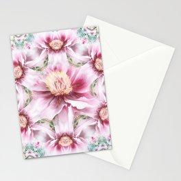 peony flower mandala Stationery Cards