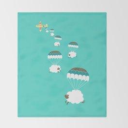 Sheepy clouds Throw Blanket