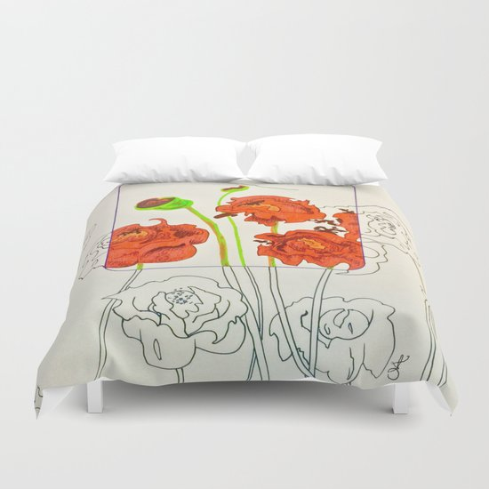 Perspective on Flowers Duvet Cover