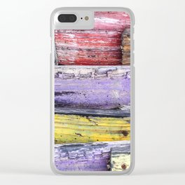 Whimsical Wood Clear iPhone Case