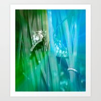 psychadelic Art Prints featuring Psychadelic Seahorse by Heidi Fairwood