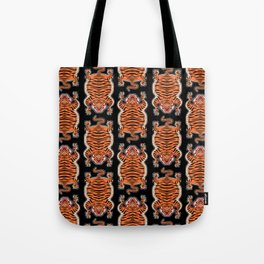 TIBETAN TIGER - ALL OVER (black) Tote Bag
