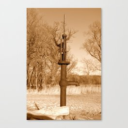 At the Water Well Canvas Print