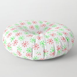 Arrows 1 - green and red Floor Pillow