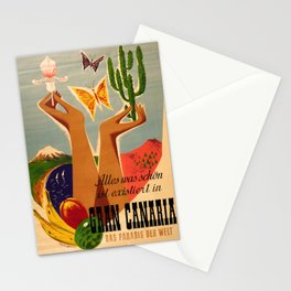 retro iconic Gran Canaria poster Stationery Cards