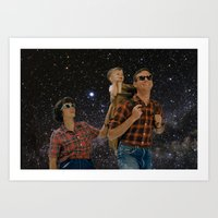Space Family Art Print