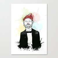 steve zissou Canvas Prints featuring Steve Zissou  by suPmön