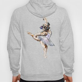 Pug Ballerina in Dog Ballet | Swan Lake  Hoody