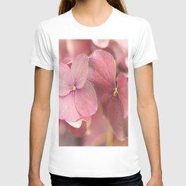 Hortensia Flower Pink Hydrangea #decor #society6 T-shirt