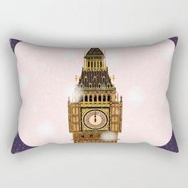 London Christmas Eve Rectangular Pillow