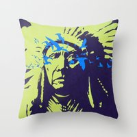 native american Throw Pillows featuring Native American  by Ty McKie Creations