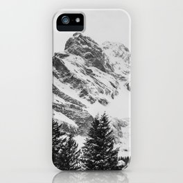 black and white like forest and snow iPhone Case