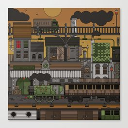 RailYard Canvas Print