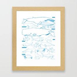 safe the ocean Framed Art Print