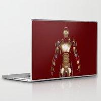iron man Laptop & iPad Skins featuring Iron Man  by George Hatzis