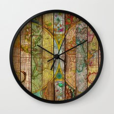 Around the World in Thirteen Maps Wall Clock